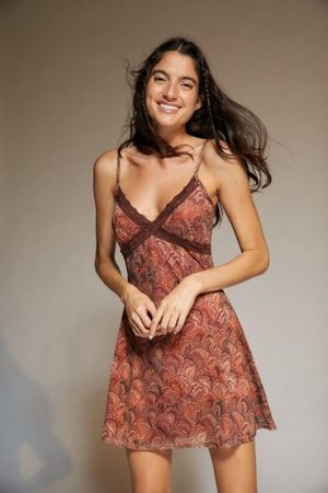 Urban Outfitters UO Lace Trim Mesh Mini Dress