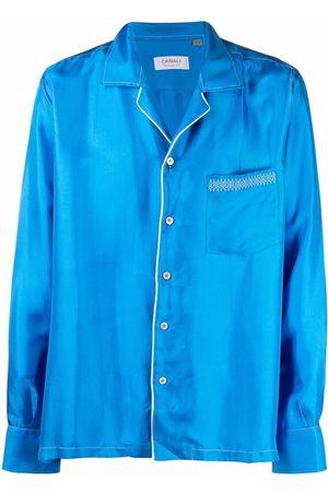 CANALI Men Pajamas - Pyjama-style silk shirt