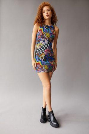 Urban Outfitters UO Austin Mesh Sleeveless Mini Dress