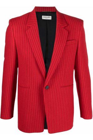 Saint Laurent Men Blazers - Pinstripe-pattern single-breasted blazer