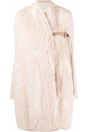GENTRYPORTOFINO Women Coats - Belted wrap coat - Neutrals