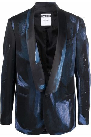 Moschino Paintbrush single-breasted blazer