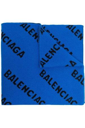 Balenciaga Men Scarves - Intarsia-knit logo scarf