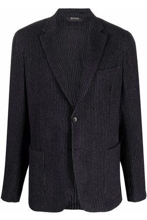 Z Zegna Men Blazers - Striped single-breasted blazer