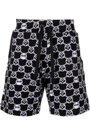 Moschino Men Sports Shorts - Teddy bear print track shorts