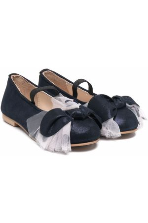 Charabia Tulle-bow ballerina shoes