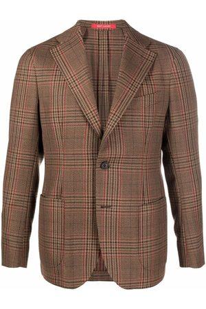 Bagnoli Men Blazers - Plaid-check single-breasted blazer