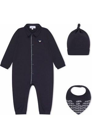 Emporio Armani Bodysuits & All-In-Ones - Logo-patch cotton babygrow set