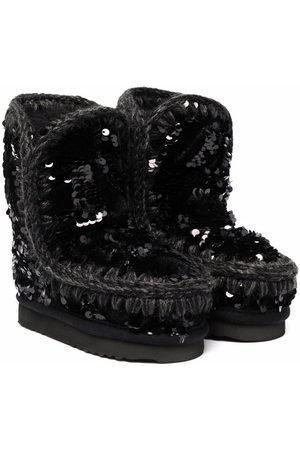 Mou Girls Ankle Boots - Eskimo sequin-embellished boots