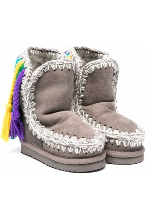 Mou Girls Ankle Boots - Eskimo leather boots - Grey