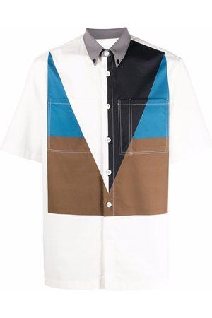 Burberry Men Short sleeves - Colourblock short-sleeve shirt