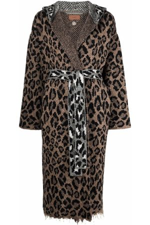 Alanui Leopard-print hooded cardigan