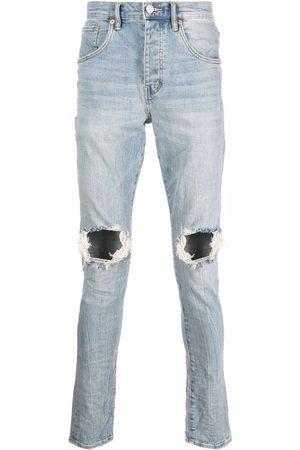 Purple Brand Men Straight - Distressed-finish straight-leg jeans
