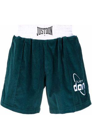 JUST DON Men Bermudas - Corduroy logo shorts