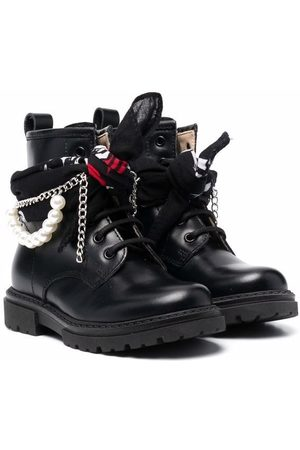 Florens Girls Ankle Boots - Embellished leather ankle boots