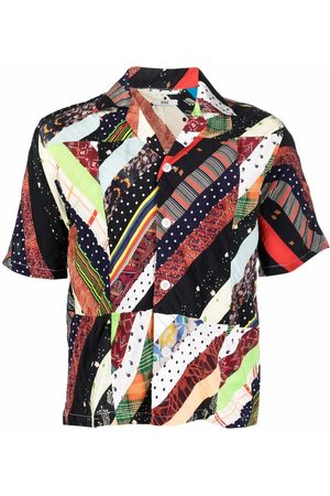BODE Polka patchwork short-sleeve shirt