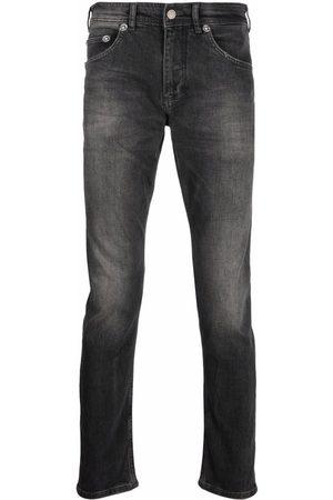 Neil Barrett Men Slim - Faded-effect slim-cut jeans - Grey