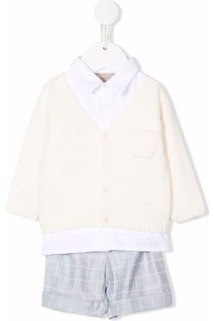 LA STUPENDERIA Bodysuits & All-In-Ones - Three-piece checked babywear set - Neutrals