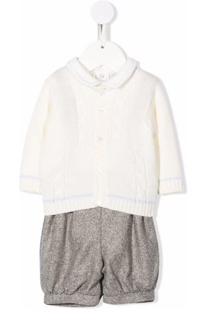 LA STUPENDERIA Bodysuits & All-In-Ones - Three-piece knitted babywear set - Grey