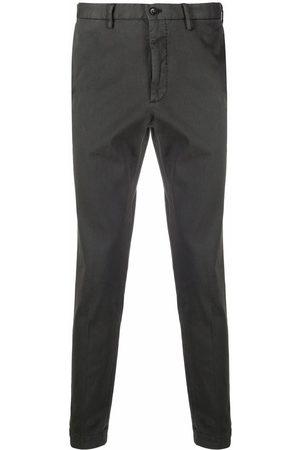 Incotex Mid-rise straight-leg trousers - Grey