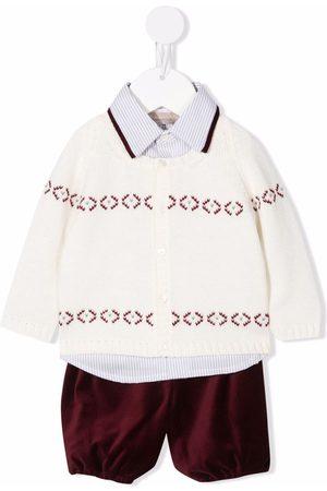 LA STUPENDERIA Bodysuits & All-In-Ones - Three-piece knitted babywear set - Neutrals