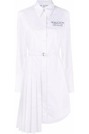 OFF-WHITE Popeline asymmetric shirt dress