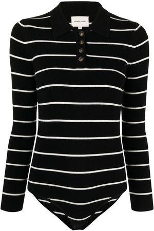 Loulou Studio Women Lingerie Bodies - Polo-collar striped bodysuit