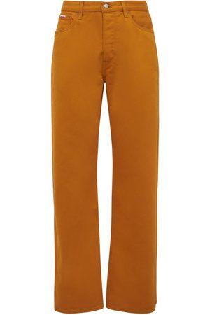 Calvin Klein Straight Cotton Blend Denim Jeans