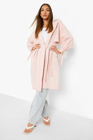 Boohoo Women Trench Coats - Womens Oversized Belted Trench Coat - - S
