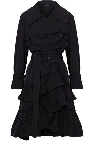Simone Rocha Women Trench Coats - Woman Tiered Ruffled Shell Trench Coat Size 10