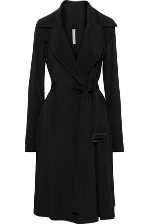 Rick Owens Women Trench Coats - Woman Tecuatl Crepe Trench Coat Size 38