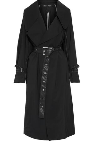 Proenza Schouler Woman Oversized Belted Wool-blend Trench Coat Size 0
