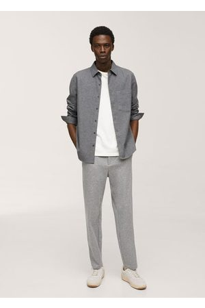 MANGO Regular fit cotton shirt