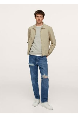 MANGO Denim jacket with zipper