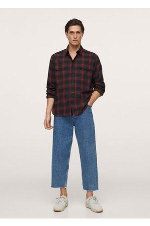 MANGO Checked lyocell cotton shirt