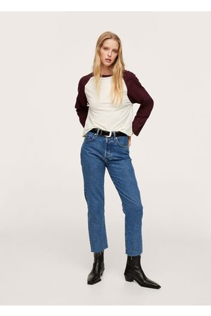 MANGO Long sleeve cotton t-shirt