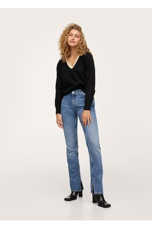 MANGO Contrasting V-neck sweater