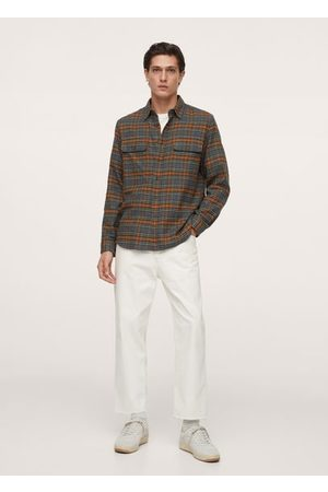 MANGO Checked flannel shirt