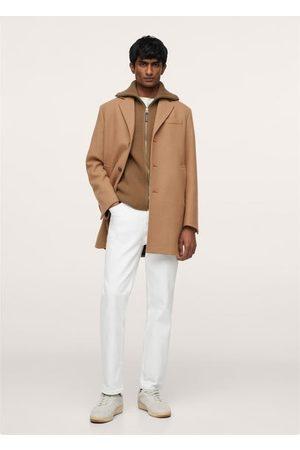 MANGO Zip-up wool vest