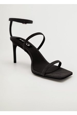 MANGO Straps heel leather sandals