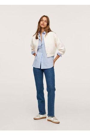 MANGO Button knit cardigan