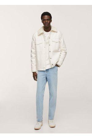 MANGO Shearling denim jacket