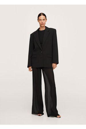 MANGO Oversized woolen blazer