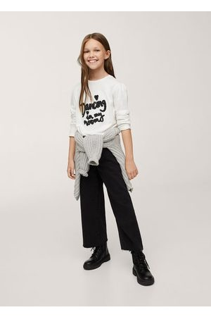 MANGO Long-sleeved t-shirt with message