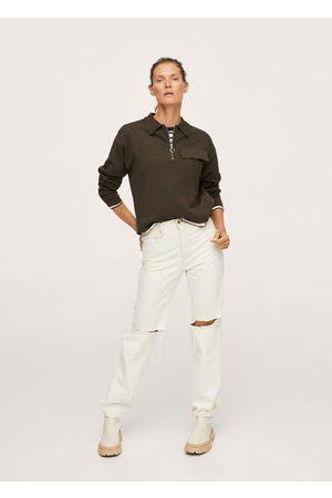 MANGO Knit pocket sweater