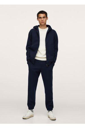 MANGO Textured jogger pants