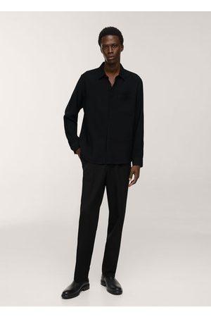 MANGO Regular-fit viscose shirt