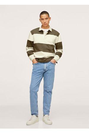 MANGO Relaxed color block polo shirt