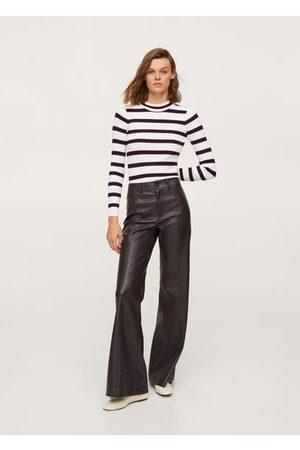 MANGO Women Cardigans - Striped rib sweater