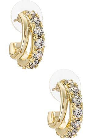 Kendra Scott Women Earrings - Livy Huggie Earrings in Metallic .